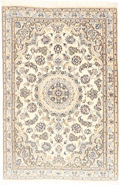 Nain 9La Matta 96X147 Äkta Orientalisk Handknuten Beige/Ljusbrun (Ull/Silke, Persien/Iran)