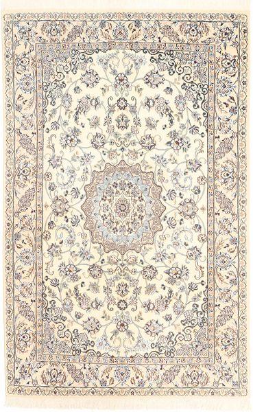 Nain 9La Rug 130X200 Authentic  Oriental Handknotted Beige/Light Brown (Wool/Silk, Persia/Iran)