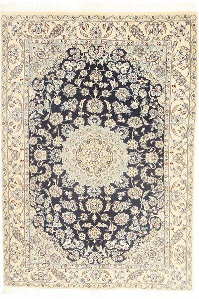 Nain 9La Alfombra 145X210 Oriental Hecha A Mano Beige/Marrón Claro (Lana/Seda, Persia/Irán)