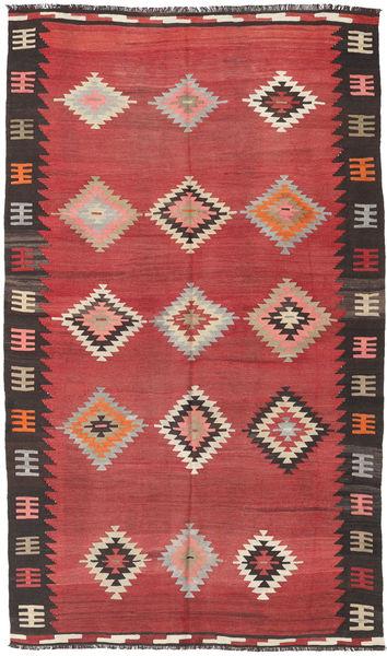 Kelim Semi-Antiek Turkije Tapijt 168X283 Echt Oosters Handgeweven Roestkleur/Donkerrood (Wol, Turkije)