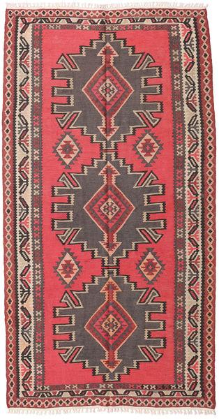 Kelim Semi-Antiek Turkije Tapijt 158X300 Echt Oosters Handgeweven Donkerbruin (Wol, Turkije)