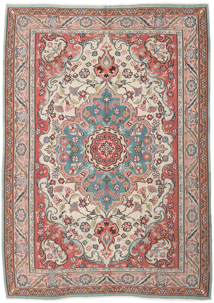 Kilim Russian Rug 6′9″x9′6″ Authentic  Oriental Handwoven Dark Brown/Light Brown (Wool, Azerbaijan/Russia)