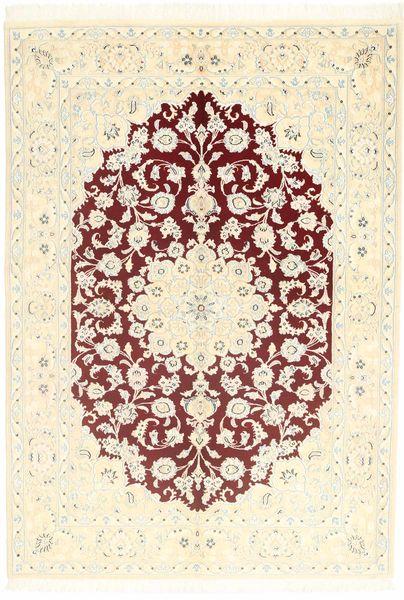 Nain 9La Matta 145X204 Äkta Orientalisk Handknuten Beige/Ljusrosa (Ull/Silke, Persien/Iran)
