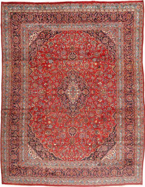 Mashad Tapis 305X395 D'orient Fait Main Marron/Marron Clair Grand (Laine, Perse/Iran)