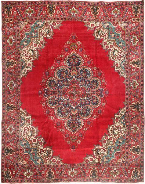 Tabriz Matta 310X380 Äkta Orientalisk Handknuten Brun/Röd Stor (Ull, Persien/Iran)
