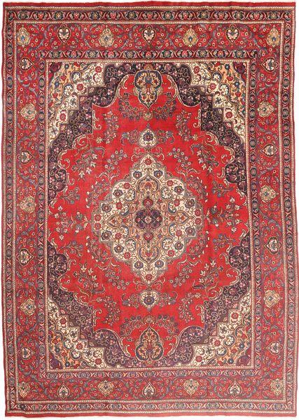 Tabriz Matta 285X400 Äkta Orientalisk Handknuten Brun/Mörkröd Stor (Ull, Persien/Iran)