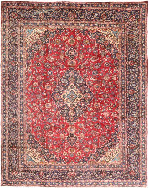 Mashad Matto 305X395 Itämainen Käsinsolmittu Tummanpunainen/Vaaleanvioletti Isot (Villa, Persia/Iran)