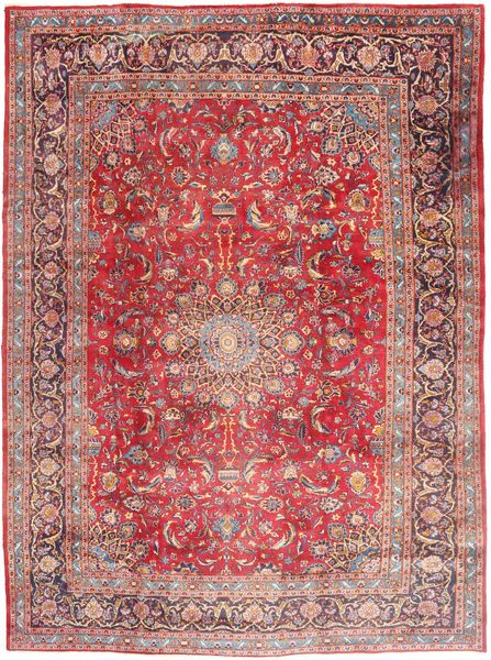Mashad Rug 295X395 Authentic  Oriental Handknotted Purple/Light Pink Large (Wool, Persia/Iran)