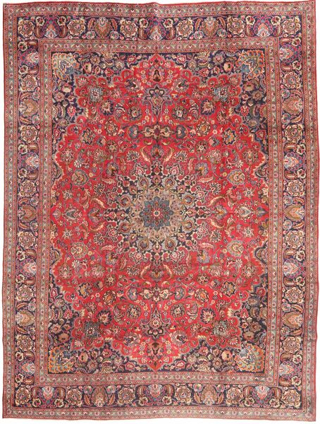 Mashad Rug 285X375 Authentic  Oriental Handknotted Rust Red/Light Purple Large (Wool, Persia/Iran)