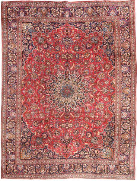 Mashad Tapis 285X375 D'orient Fait Main Rouille/Rouge/Violet Clair Grand (Laine, Perse/Iran)