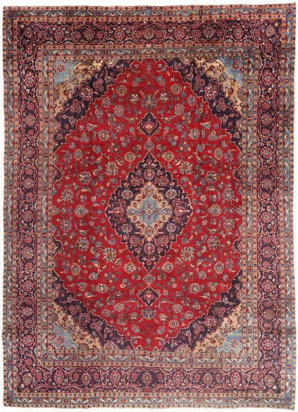 Mashad Rug 280X385 Authentic  Oriental Handknotted Dark Red/Brown Large (Wool, Persia/Iran)