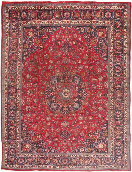 Mashad Rug 290X375 Authentic  Oriental Handknotted Dark Red/Brown Large (Wool, Persia/Iran)