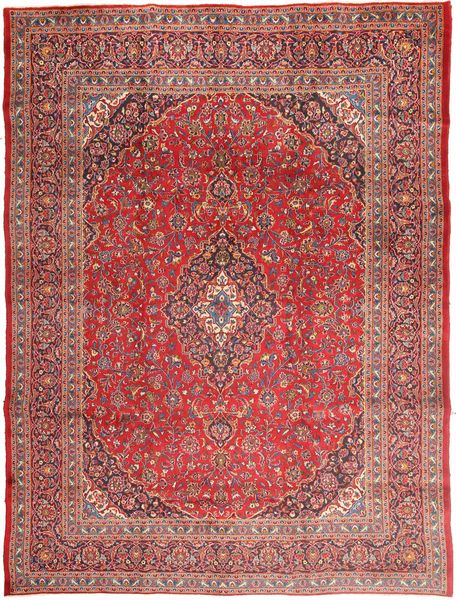 Mashad Rug 295X390 Authentic  Oriental Handknotted Brown/Light Pink Large (Wool, Persia/Iran)
