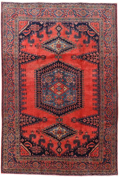 Wiss Matto 223X330 Itämainen Käsinsolmittu Tummanpunainen/Musta (Villa, Persia/Iran)