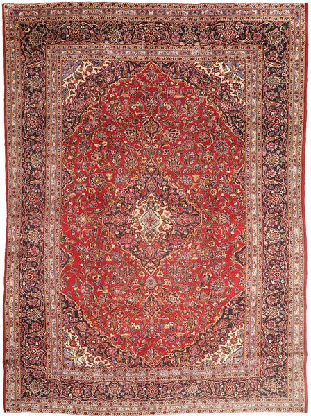 Mashad Rug 285X390 Authentic  Oriental Handknotted Dark Red/Brown Large (Wool, Persia/Iran)