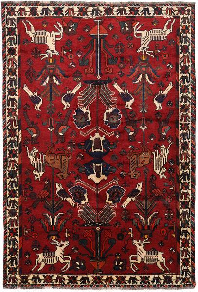 Shiraz Matto 171X251 Itämainen Käsinsolmittu Musta/Tummanpunainen/Ruoste (Villa, Persia/Iran)