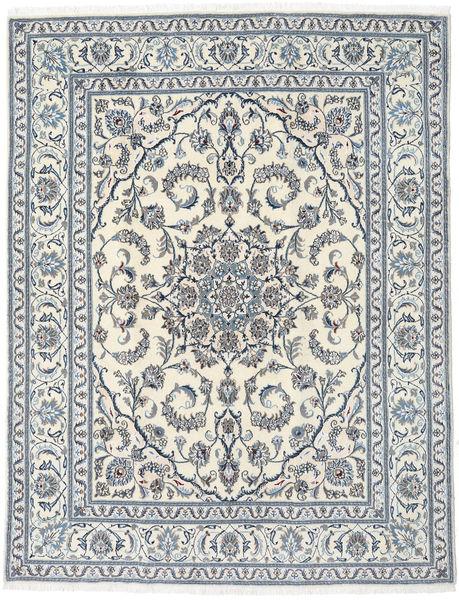 Naïn Tapis 196X252 D'orient Fait Main Beige/Gris Clair (Laine, Perse/Iran)