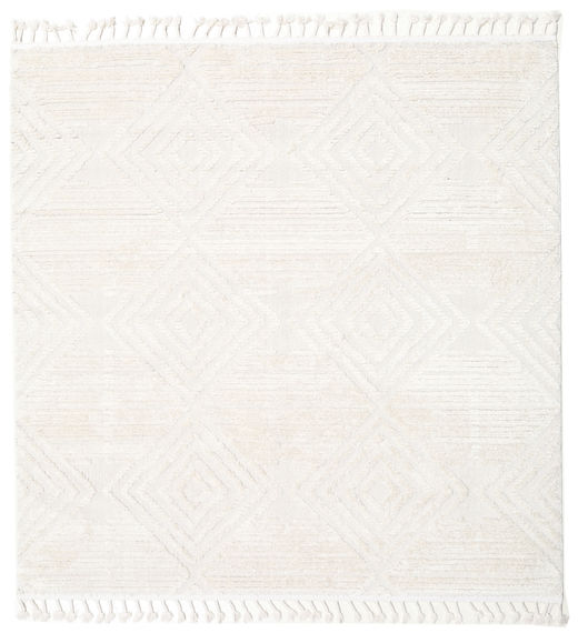 Taj - Cream Rug 200X200 Modern Square White/Creme/Beige ( Turkey)