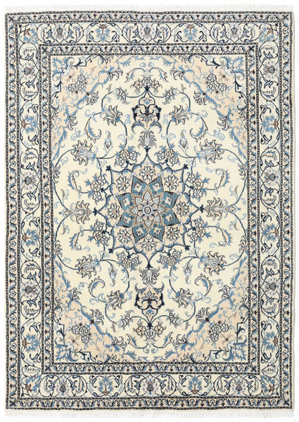 Nain Rug 169X230 Authentic  Oriental Handknotted Beige/Light Grey (Wool, Persia/Iran)