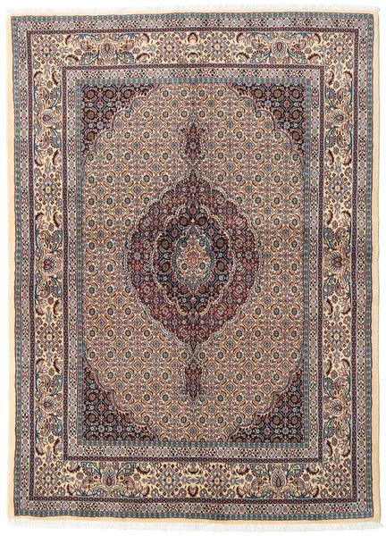 Moud Matto 146X200 Itämainen Käsinsolmittu Vaaleanruskea/Vaaleanharmaa (Villa/Silkki, Persia/Iran)