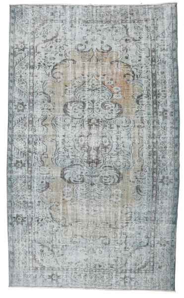 Colored Vintage Rug 170X294 Authentic  Modern Handknotted Light Grey/Light Blue (Wool, Turkey)