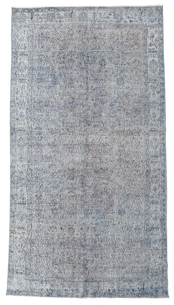 Colored Vintage Rug 164X294 Authentic  Modern Handknotted Light Grey/Dark Grey (Wool, Turkey)