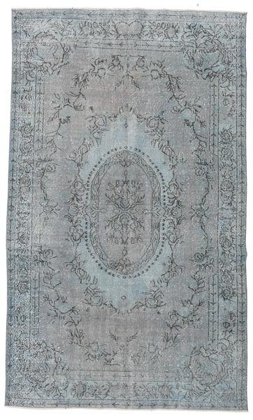 Colored Vintage Dywan 185X305 Nowoczesny Tkany Ręcznie Jasnoszary/Niebieski (Wełna, Turcja)