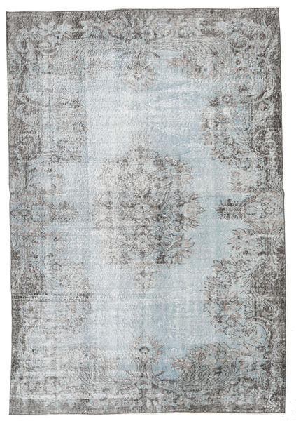 Colored Vintage Rug 170X250 Authentic  Modern Handknotted Light Grey/Dark Grey (Wool, Turkey)