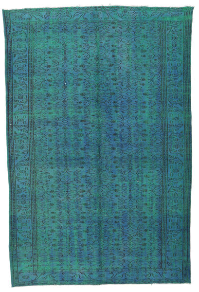 Colored Vintage Rug 177X272 Authentic  Modern Handknotted Dark Turquoise  /Dark Blue (Wool, Turkey)