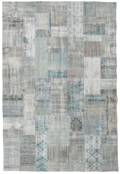 Patchwork Rug 202X301 Authentic  Modern Handknotted Light Grey (Wool, Turkey)