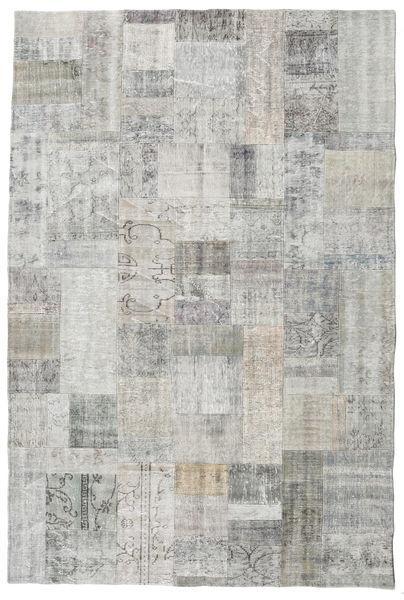Patchwork Rug 200X300 Authentic  Modern Handknotted Light Grey/Beige (Wool, Turkey)