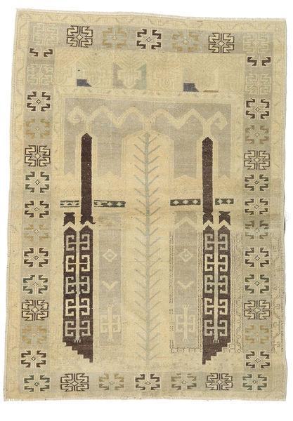 Taspinar Rug 106X146 Authentic  Oriental Handknotted Light Green/Dark Beige/Beige (Wool, Turkey)