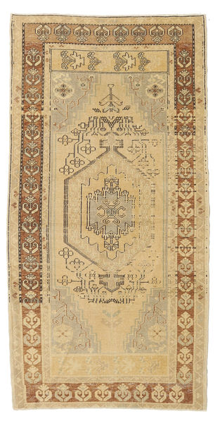 Taspinar Tapis 110X216 D'orient Fait Main Beige Foncé/Marron Clair (Laine, Turquie)