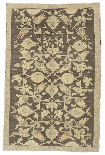 Taspinar Matta 140X215 Äkta Orientalisk Handknuten Ljusbrun/Mörkgrå (Ull, Turkiet)