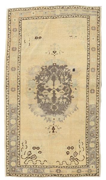 Taspinar Tapis 102X181 D'orient Fait Main Beige/Beige Foncé (Laine, Turquie)