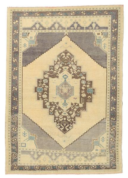 Taspinar Rug 132X190 Authentic  Oriental Handknotted Beige/Light Grey/Dark Beige (Wool, Turkey)