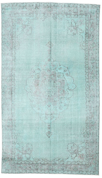 Colored Vintage Rug 187X338 Authentic  Modern Handknotted Light Blue/Pastel Green (Wool, Turkey)