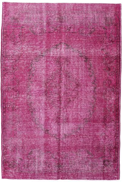 カラード ヴィンテージ 絨毯 185X274 モダン 手織り ピンク/濃い紫 (ウール, トルコ)