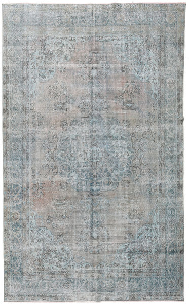 Colored Vintage Rug 206X330 Authentic  Modern Handknotted Light Grey/Turquoise Blue (Wool, Turkey)
