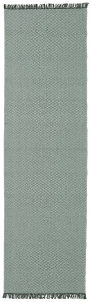 Purity - Green Rug 70X250 Modern Hallway Runner  Dark Grey/Light Grey ( Sweden)