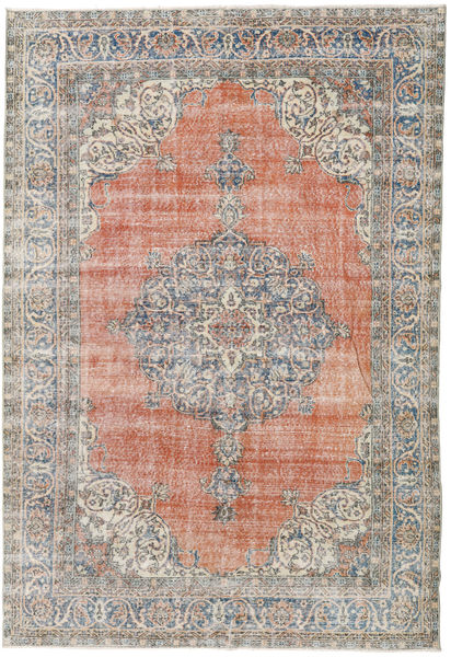 Colored Vintage Rug 208X307 Authentic  Modern Handknotted Light Grey/Light Brown (Wool, Turkey)