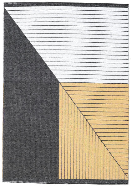 Covor Diagonal - Negru / Yellow CVD21753