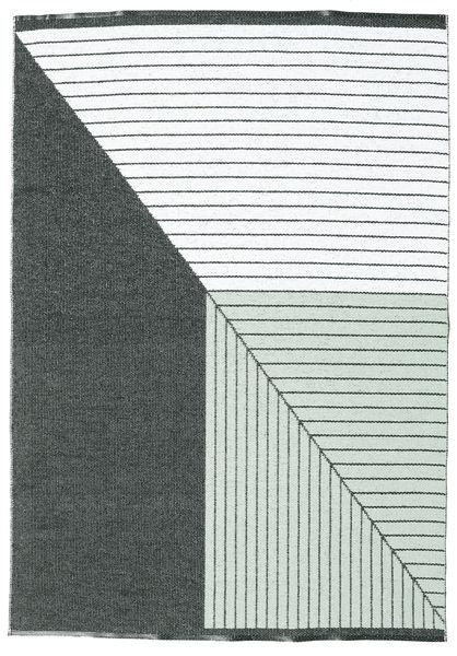Diagonal - Zwart / Groen tapijt CVD21670
