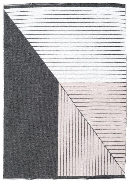 Alfombra Diagonal - Negro / Rosa CVD21673