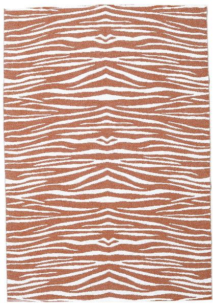Zebra - Rouille Tapis 200X280 Moderne Marron/Gris Clair ( Suède)