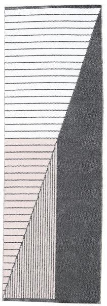 Diagonal - Czarny/Różowy Dywan 70X210 Nowoczesny Chodnik Beżowy/Ciemnoszary ( Szwecja)