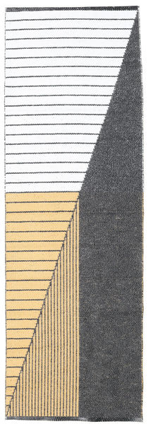 Diagonal - Musta / Keltainen-matto CVD21754
