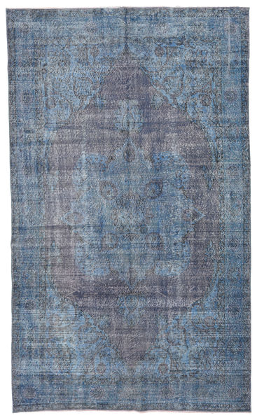 Colored Vintage Rug 185X308 Authentic  Modern Handknotted Light Blue/Blue/Dark Grey (Wool, Turkey)