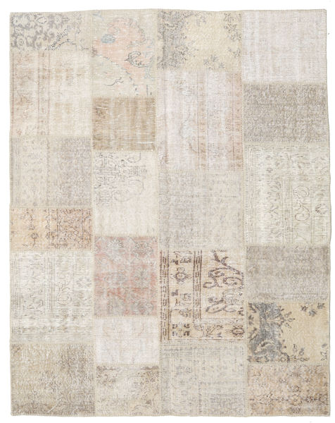 Patchwork Rug 196X250 Authentic  Modern Handknotted Light Grey/Light Brown (Wool, Turkey)