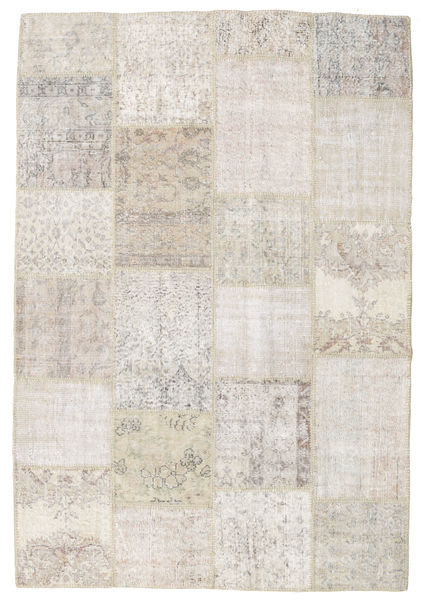 Patchwork Rug 158X231 Authentic  Modern Handknotted Light Grey/Beige (Wool, Turkey)